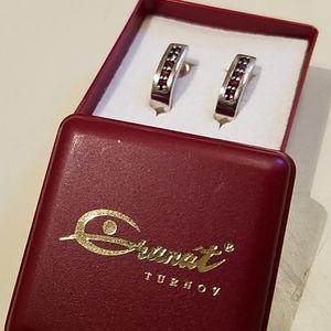 Genuine Czech Garnet Earrings